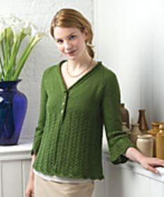 Moss green Moda Dea washable wool knit cardigan