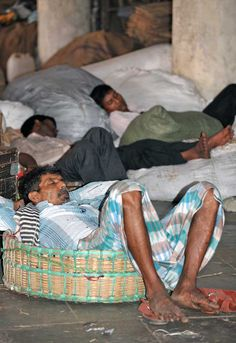 Siesta at Crawford market, Mumbai, when all the immediate heavy lifting has been done at this massive fruit and veg market