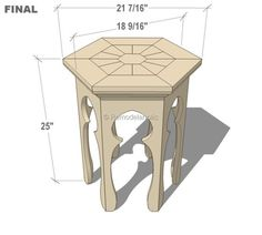 End Table Plans: Hexagonal Moroccan Side Table Plans Moroccan Furniture, Gothic Furniture, Moroccan Decor, Home Furniture, Modern Furniture, Furniture Design, Diy End Tables, Diy Table, Side Tables