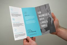 Blue Corporate Trifold Brochure by bouncy on Creative Market