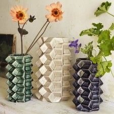Geometric Ceramic Vases