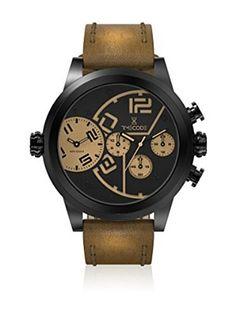Timecode Reloj de cuarzo Man Chip 1958 Marrón 51 mm