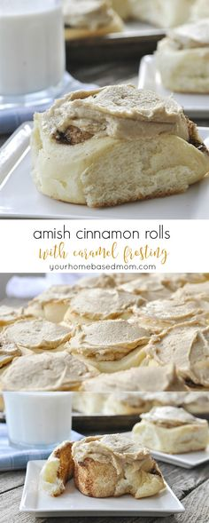 Cinnamon Rolls with Caramel Frosting Recipe - you will love the surprising addition of mashed potatoes in these!Amish Cinnamon Rolls with Caramel Frosting Recipe - you will love the surprising addition of mashed potatoes in these! Amish Recipes, Baking Recipes, Dessert Recipes, Pudding Recipes, Casserole Recipes, Bread Recipes, Amish Friendship Bread, Friendship Bread Recipe, Simply Yummy