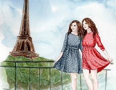 """Check out new work on my @Behance portfolio: """"Olga and Tanya"""" http://be.net/gallery/35225887/Olga-and-Tanya"""