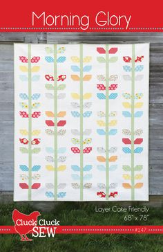 Morning Glory Quilt Pattern by Cluck Cluck Sew