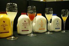 4 sucos de Aloe Vera - com selos internacionais.