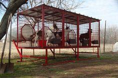 4 dog above ground dog kennel