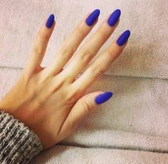Matte blue for fall.