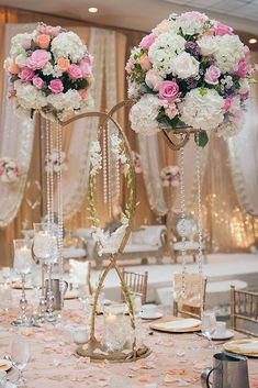36 Gorgeous Tall Wedding Centerpieces ❤ Tall wedding centerpieces are one of the brilliant ideas how to decorate your reception. Stunning coral, white, purple colors will make your wedding great! #wedding #decor #bridaldecorations #weddingdecorations #tallweddingcenterpieces