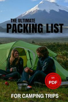 The Ultimate Camping Packing List you need for your adventures in the outdoors. Don't forget anything back home with this PDF downloadable checklist.