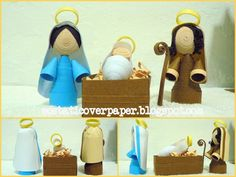 ecstatic over paper: Nativity Scene