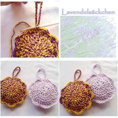 ♥ strickliese-kreativ ♥: Tutorial Lavendelsäckchen in Form einer Blüte häkeln
