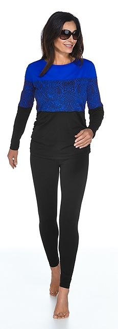 Color Block Ruche Swim Shirt Outfit