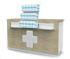 Pharmacy, Facial Tissue, Deco, Counter, White Texture, Roll Out Shelves, Retail Space, Clean Design, Apothecary
