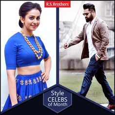 ‪#‎Style‬ Celeb Of The Month. Hey Folks ,this week 2 celebrities ‪#‎Jr‬.NTR and ‪#‎Rakul‬ Preet Singh came with Trendy Fashion Look for Nannaku Prematho Movie Audio Launch. Take a look how both dazzled in their Stunning avatar!