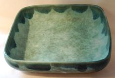 McCarty Pottery Jade Tall Square Pan, new