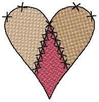 Prim Hearts Set | Primitive | Machine Embroidery Designs | SWAKembroidery.com HeartStrings Embroidery