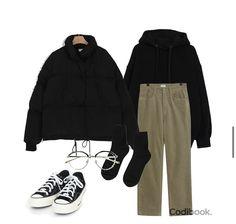 Teen Fashion Outfits, Retro Outfits, Cute Casual Outfits, Look Fashion, Stylish Outfits, Winter Fashion, Korean Outfit Street Styles, Korean Outfits, Ulzzang Fashion