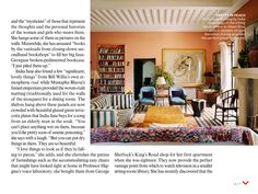 Delighted to see our Sofa One and decorating work in a project in Marrakech. US Vogue February 2014 Story: Hamish Bowles, Photography: Francois Halard