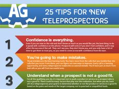 [INFOGRAPHIC] 25 Tips for New Teleprospectors