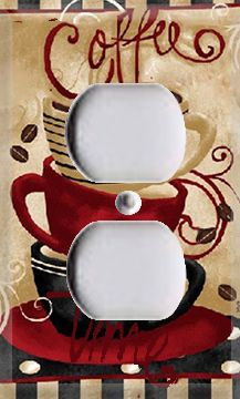 coffee time single outlet cover899 love this plan to make my own - Coffee Kitchen Decor Ideas