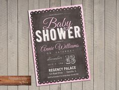 Baby Shower - Chalkboard Baby Pink. $15.00, via Etsy.