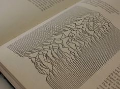 Radio pulsar image from the 1977 Cambridge Encyclopedia of Astronomy - as used by Peter Saville for the cover of Unknown Pleasures    http://adamcap.com/2011/05/history-of-joy-division-unknown-pleasures-album-art/
