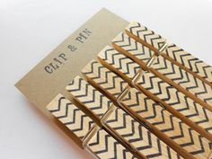 Our next DIY? Yes. All you need is a pack of clothespins, and a sharpie pen! #DIY