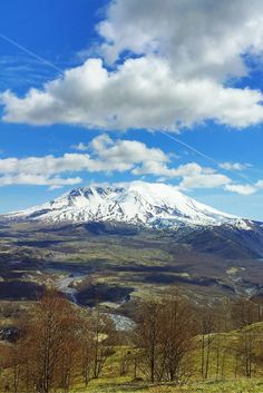 Mount St. Helens in Washington, view from one of the trails
