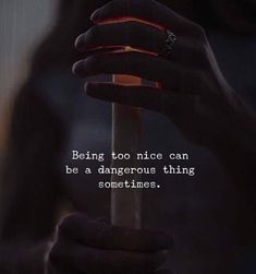 Being too nice can be a dangerous thing sometimes. via (http://ift.tt/2DfgtMC)