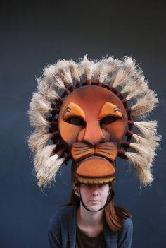 Mufasa headdress, Handmade Foam headpiece, Theater Production, Musicals Musical Rey Leon, Lion King Musical, Lion King Jr, Headdress, Headpiece, Narnia Costumes, Lion King Costume, Lion Mask, Bird Costume