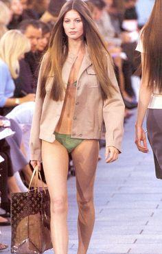 Gisele Bundchen at Louis Vuitton s/s 1999