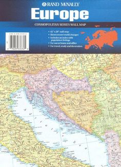 Rand mcnally world cosmopolitan series wall map cosmopolitan wall the new europe rand mcnally cosmopolitan series wall map by rand mcnally http gumiabroncs Choice Image