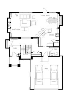 The Yorkton III | A&S Homes | House | Pinterest | Double sided gas ...