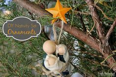 If you are looking for a personal yet inexpensive Christmas gift, these primitive nativity set ornaments are for you! I made 6 ornament sets for under $10!