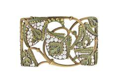Lalique - Plaque de collier de chien Fougères (fern collar) | Centre de documentation des musées - Les Arts Décoratifs.