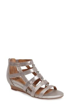 Free shipping and returns on Söfft Rio Gladiator Wedge Sandal (Women) at Nordstrom.com. Metallic detailing enlivens the front of a strappy gladiator sandal set on a low cushioned wedge.