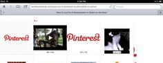 """iPad : how to add a Pinterest """"pin it"""" bookmarklet to Safari web browser"""