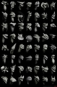 All 55 dragons in one place for inspirational purposes If you want to download the high res file 5k size(5000pixels in height) please go to my website, the zipped image file is located at the botto...