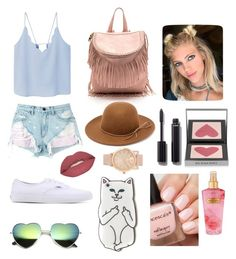 """""""summer pastels"""" by mina-mcgill on Polyvore featuring MANGO, Alexander Wang, Vans, RHYTHM, Smashbox, Chanel, Burberry and Victoria's Secret"""