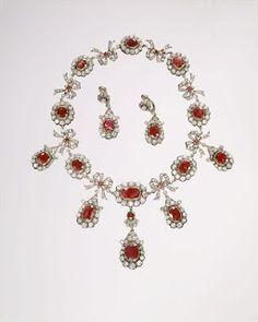 Regency Era necklace & earrings