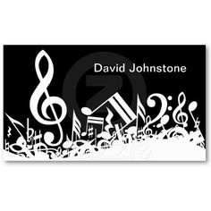 9 best musician business card images on pinterest musician customizable jumbled musical notes business cards nice for a musician colourmoves