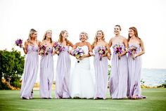 Beautiful lavender bridesmaid dresses