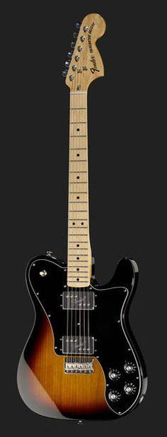 Fender 72 Telecaster Deluxe (Sunburst) Fender Stratocaster, Fender Telecaster Deluxe 72, Unique Guitars, Vintage Guitars, Gibson Guitars, Fender Guitars, Wall Of Sound, Cool Electric Guitars, Guitar Collection
