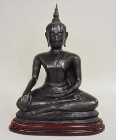 Southeast Asian Seated Bronze Buddha, Possibly 19th C.