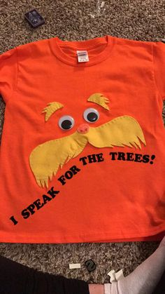 Diy dr seuss lorax costume super easy i used 2 different shades diy lorax shirt solutioingenieria Choice Image