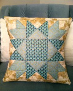 """Made by Karen O'Connor aka """"Lady K Quilts"""" using Quilter's Cache UNION SQUARES pattern."""