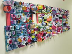 inspired by kandinsky, gainer, and zamorano paper relief sculpture from Kindergardeners