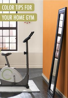 Your home gym is the perfect space to take a design risk. By using energetic paint colors, like Flaming Torch for an accent wall, the room will be one that is motivating and upbeat.