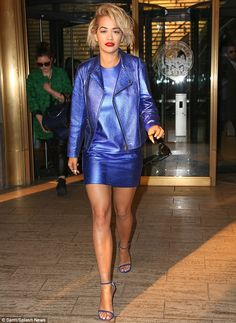 Roc The Life: There is never a dull fashion moment for Rita Ora as she stepped out in a metallic blue outfit